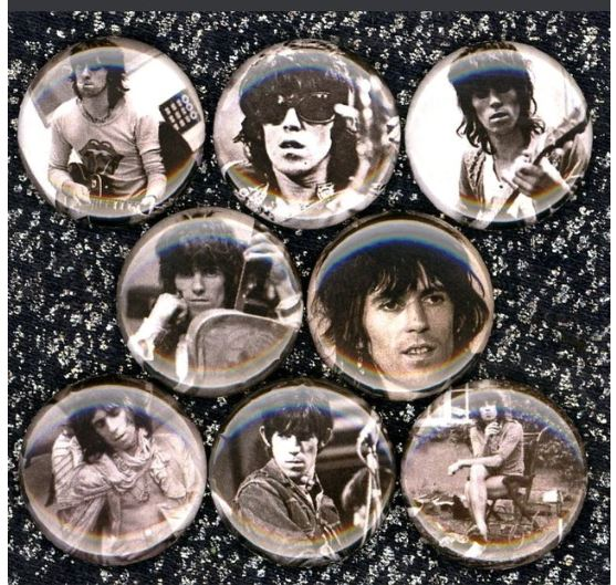 1 inch Keith Richards set of 8 buttons badge pins