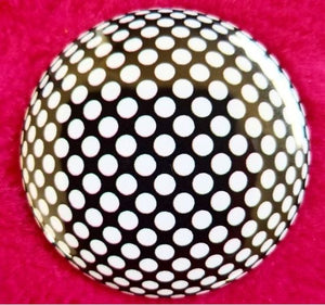2.25 inch Black and White Dots button badge pin
