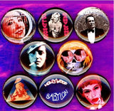 1 inch set of 8 Kenneth Anger  buttons badge pins