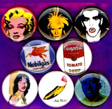 1 inch set of 8  Andy Warhol Soup Can buttons badge pins