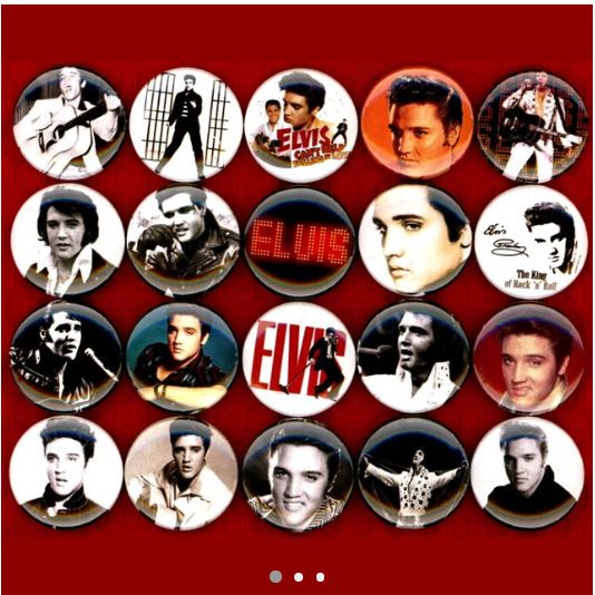 Elvis Presley buttons badge pins set of 20