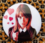 2.25 inch Françoise Madeleine Hardy button badge pin