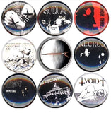 Dischord punk buttons badge pins set of 8