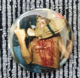 2.25 inch Middle Finger Iggy Pop button badge pin