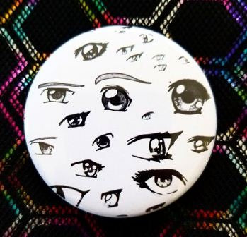 2.25 inch Anime Eyes button badge pin