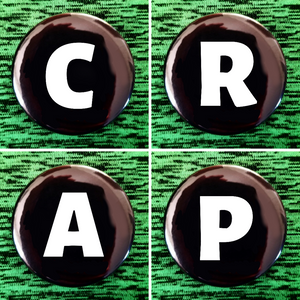 C R A P set of 4 new buttons pin badges