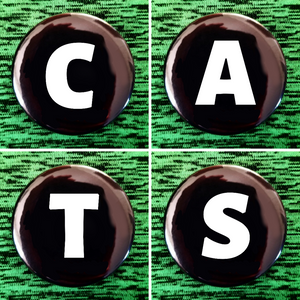 C A T S set of 4 new buttons pin badges