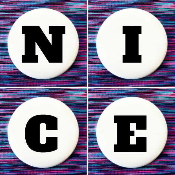 N I C E set of 4 new buttons pin badges