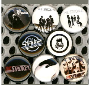 The strokes band buttons badge pin set of 8