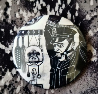 2.25 inch Pig Cop button badge pin