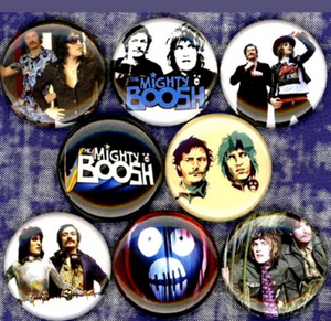 1 inch set of 8 The mighty boosh buttons badge pins