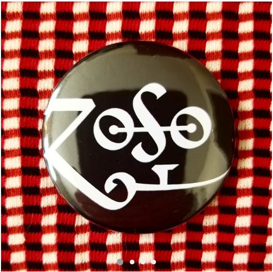 2.25 inch Robert Plant ZoSo Symbol button badge pin