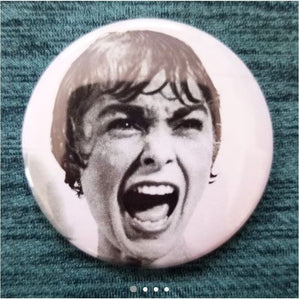 2.25 inch Psycho button badge pin