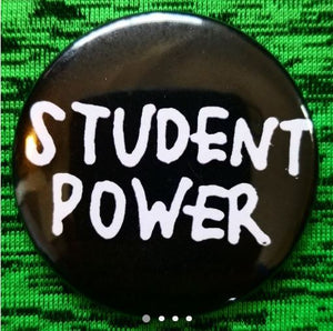 2.25 inch student power button badge pin