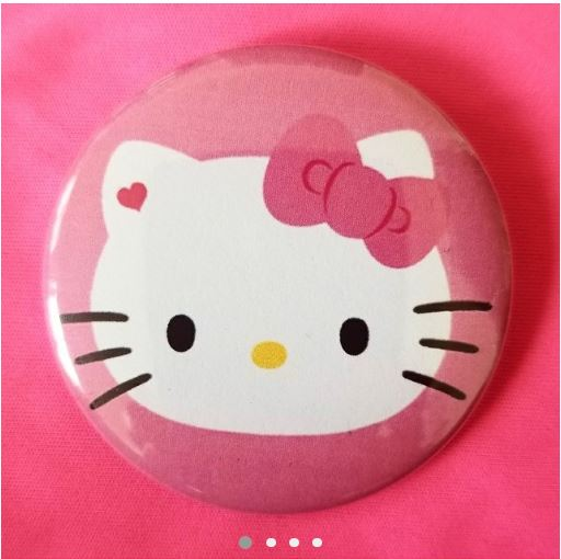 2.25 inch Hello Kitty button badge pin