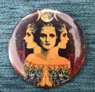2.25 inch The Witches Moon button badge pin