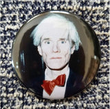 2.25 inch Andy Warhol button badge pin
