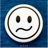 2.25 inch Whatever Smiley Face button badge pin