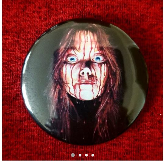 2.25 inch Carrie button badge pin