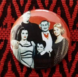 2.25 inch The Monsters Family Photo button badge pin