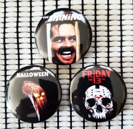1.25 inch set of 3  Horror Movie  pins