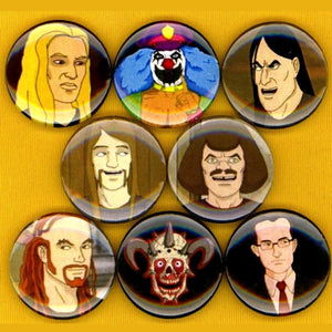 1 inch metalocalypse set of 8 buttons badge pins
