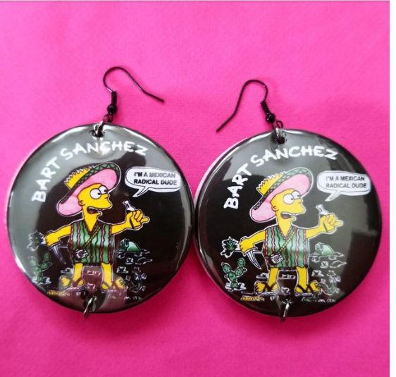 Bart Sanchez 2.25 inch large round earrings