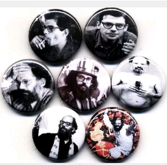 1 inch Allen Ginsberg set of 7 buttons badge pins