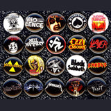 1 inch metal bands buttons badge pins set of 20