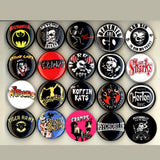 1 inch psychobilly buttons badge pins set of 20