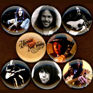 1 inch Neil young set of 8 buttons badge pins