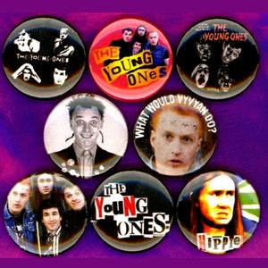 1 inch the young ones set of 8 buttons badge pins