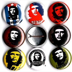 1 inch che Guevara set of 8 buttons badge pins