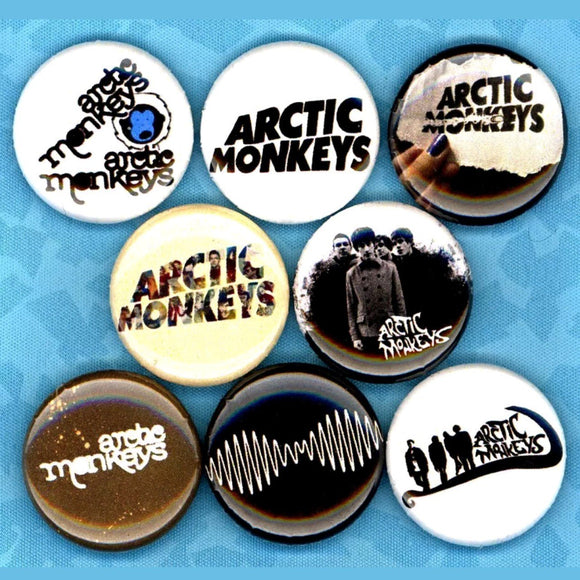 1 inch arctic Monkeys set of 8 buttons badge pins