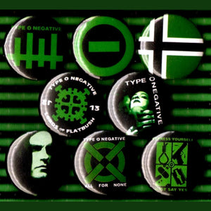 1 inch type o negative set of 8 buttons badge pins