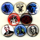 1 inch hp lovecraft set of 8 buttons badge pins