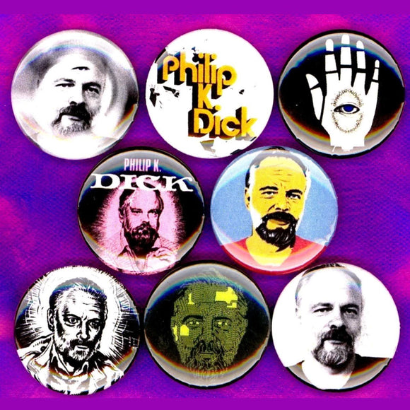 1 inch philip k dick set of 8 buttons badge pins