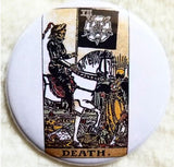 2.25 inch Death Tarot Card button badge pin