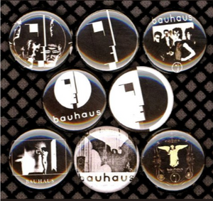 1 inch set of 8 Bauhaus buttons badge pins