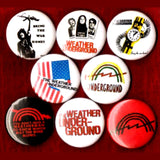 1 inch weather underground set of 8 buttons badge pins