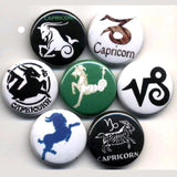1 inch set of 7 capricorn buttons badges pins
