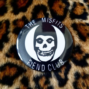 2.25 inch misfits fiend club button badge pin
