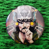 2.25 inch Weird Dude Smoking a Joint button badge pin