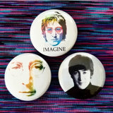1.25 inch John lennon set of 3 pins