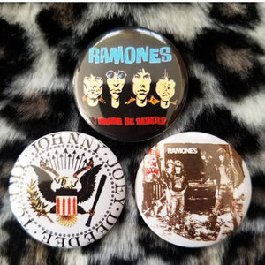 1.25 inch ramones set of 3 pins