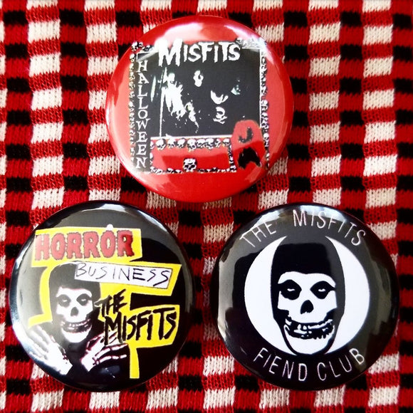 1.25 inch misfits set of 3 pins