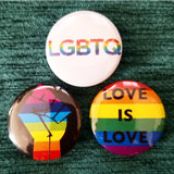 1.25 inch LGBTQ set of 3 pins