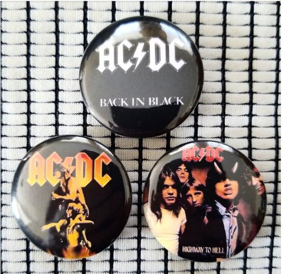 1.25 inch AC/DC set of 3 pins
