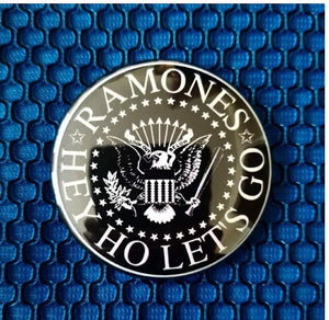2.25 inch Ramones hey ho let's go button badge pin
