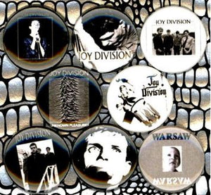1 inch set of 8 Joy division buttons badge pins